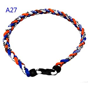 Buy 20 Blue Orange White Titanium Sport Tornado Baseball Softball Necklace by Titanium Sports
