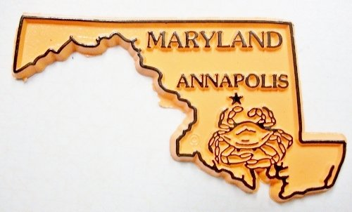 Classic Maryland The Crab State United States Fridge Magnet