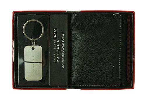 perry-ellis-portfolio-leather-trifold-with-key-fob-black