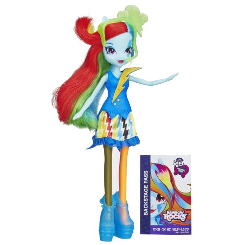 My Little Pony Equestria Girls Rainbow Dash Doll (Neon Rainbow Rocks)