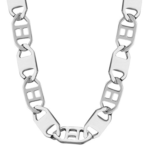 New Trendy 316L Stainless Steel For Women/ Men GIft Never Fade Flat Stud Chain Necklaces Jewelry N50035