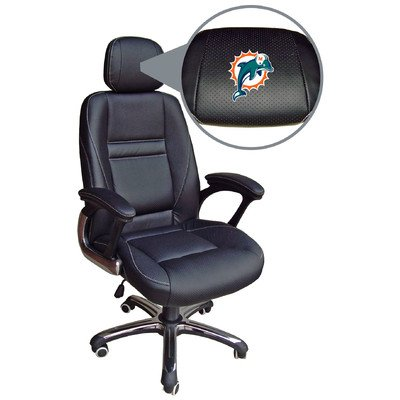 NFL Miami Dolphins Leather Office Chair at Amazon.com