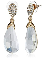 NewU Accessories Stud Earrings For Women (Golden With Mirror Crystal) (30050840)