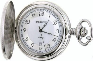 Mens Stainless Pocket Watch by Bariloche Pocket Watches 8606CP-IS1