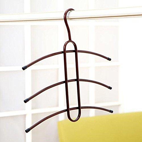 EQLEF® Trois couches Fishbone Shape Cintres Creative étuvage Varnish Etendoir pour Home Clothing Store