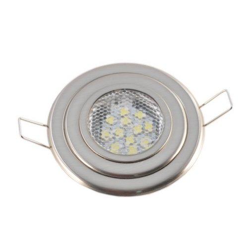 Premium Flush Mount Overhead 12 Warm White Led Light-Brushed Nickel