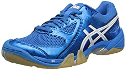 ASICS Women\'s Gel Dominion Volley Ball Shoe,Diva Blue/White/Silver,7.5 M US