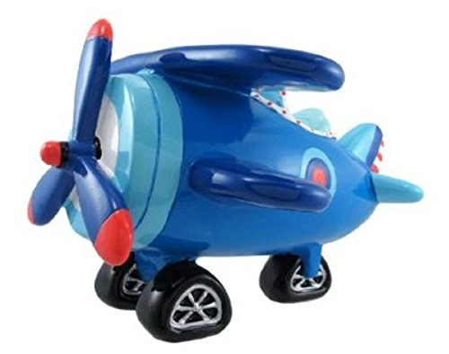 Jumbo Blue Biplane Piggy Coin Bank