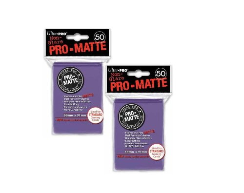 Ultra Pro PRO-MATTE (100 Count) Purple Deck Protector Sleeves - Magic the Gathering