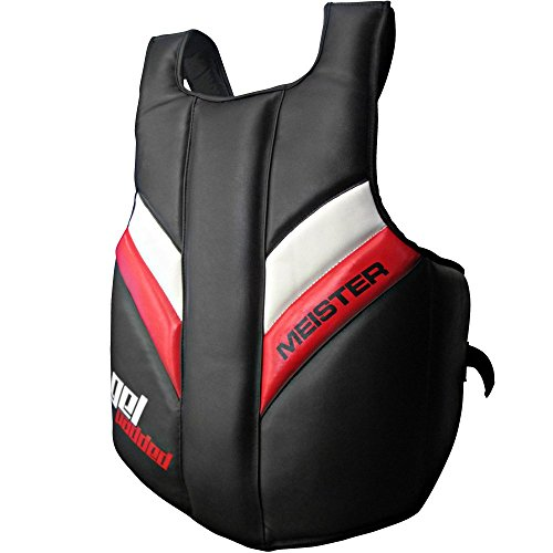 Meister Full Torso Chest Guard w/ GEL Padding for MMA, Boxing & Muay Thai - Adult - Black (Boxing Rib Protector compare prices)