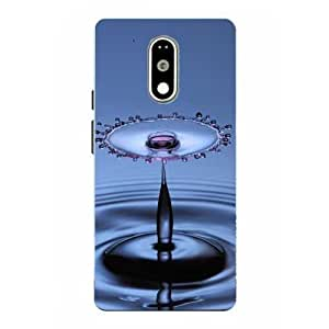 Moto G4 Play Water Drop Printed Blue Hard Back Cover By Make My Print