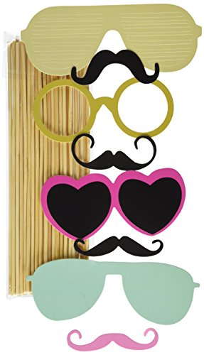 36PCS Colorful Props On A Stick Mustache Photo Booth Party Fun Wedding Christmas Birthday Favor - 1