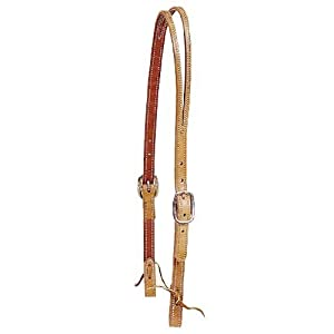 Harness Leather Split Ear Headstall with Water Strap Ends