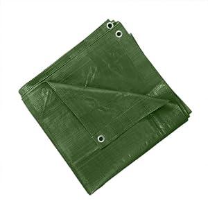 JAROLIFT Abdeckplane - Gewebeplane / 8 x 10 m / Polyethylen-Gewebe 140 g/qm / grün