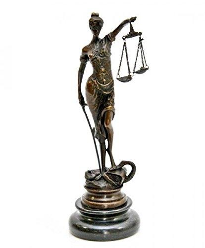 Bronzefigur ~ Justitia Göttin