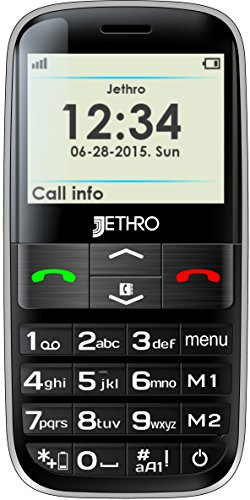 Jethro [SC628] 3G Unlocked Senior & Kids Cell Phone, Easy to Use, SOS Button, Large Display & keypad, M4/T4 Hearing Aid Compatible (To Mobile Phones compare prices)