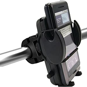 ChargerCity Mega Grip Bike Bicycle and Motorcycle Mount w/Security Strap for iPhone 6 Plus 5s 5c 4s 4, HTC ONE, Motorola Moto X G 6 Droid,LG G2 G3 Google Nexus 5, Samsung Galaxy S4 S5 Note 3 4 smartphone *Include ChargerCity Manufacture Direct Replacement Warranty*