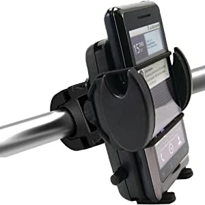 ChargerCity Mega Grip Bike Bicycle and Motorcycle Mount w/Security Strap for iPhone 6 Plus 5s 5c 4s 4, HTC ONE, Motorola Moto X G E Droid LG G3 G4 Google Nexus 5 6 Samsung Galaxy S4 S5 S6 Note 3 4 Edge ONEPLUS HTC M9 Smartphone *Include ChargerCity Manufacture Direct Replacement Warranty*