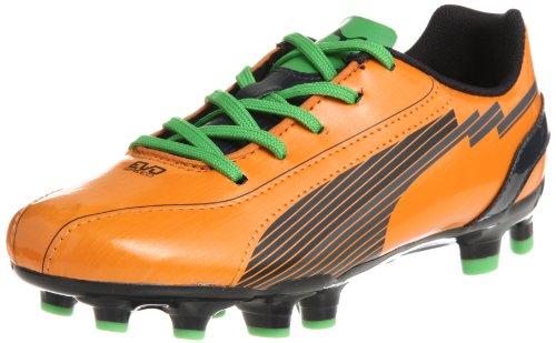 Puma evoSPEED 5 FG Jr 102595, Scarpe da calcio unisex bambino, Arancione (Orange (flame orange-team charcoa 02)), 38