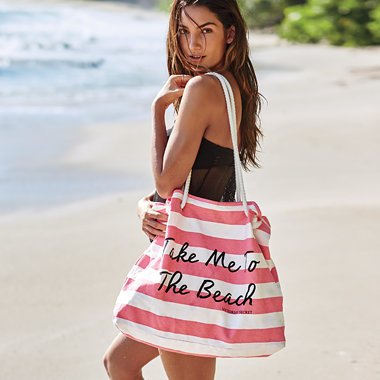 VICTORIA's Secret PINK Beach Time Tote Bag .