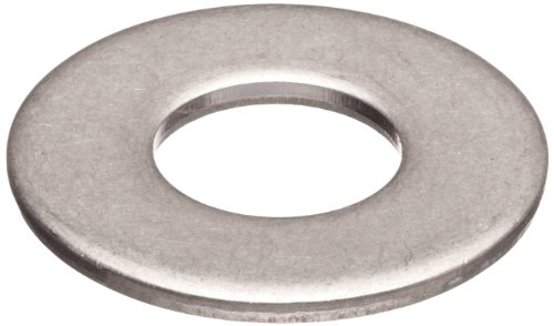 Steel Flat Washer, Zinc Plated Finish, DIN 125, Metric, M8 Screw Size, 8.4 mm ID, 16 mm OD, 1.6 mm Thick (Pack of 100)