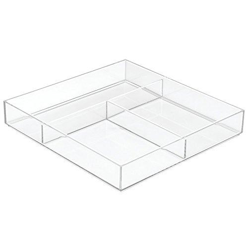 InterDesign 49610EU Clarity Tiroir Organiseur Transparent 30,5 x 30,5 x 5 cm