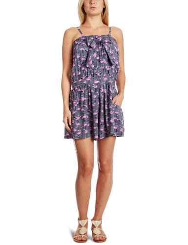 Yumi Bola Flamingo Print Playsuit Grey Large