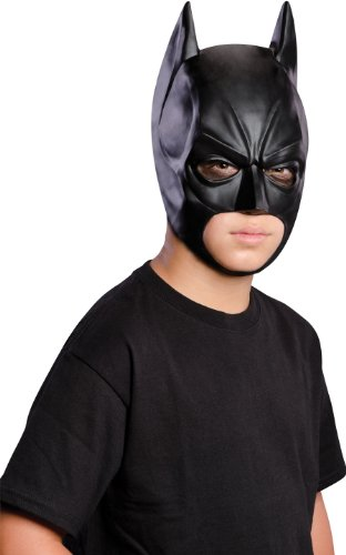 Batman: The Dark Knight Rises: Batman 3/4 Mask, Child Size (Black)
