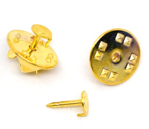 100 Sets Gold Plated Tie Tac Pin &Tie Squeeze Clutch
