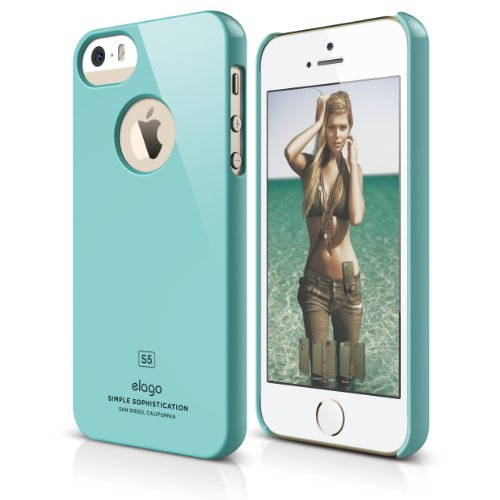 iPhone SE case, elago® [Slim Fit][Coral Blue] - [Light][Minimalistic][True Fit] - for iPhone SE/5/5S (Light Blue Coral compare prices)