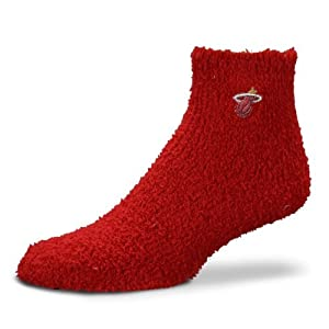 Miami Heat NBA Adult Fuzzy Soft Sleep Socks-Size Medium by For Bare Feet