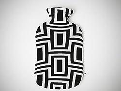 PLUCHI Black 100 % cotton GALAXY Hot water bag cover