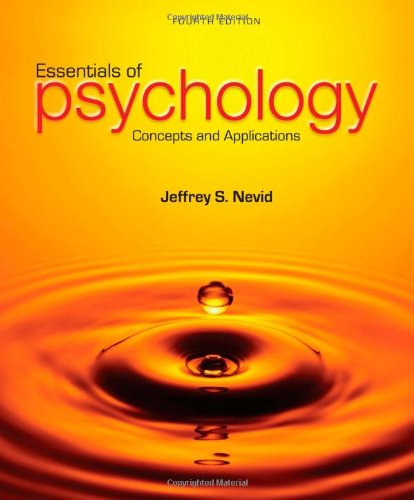 Essentials Of Psychology: Concepts And Applications front-878388