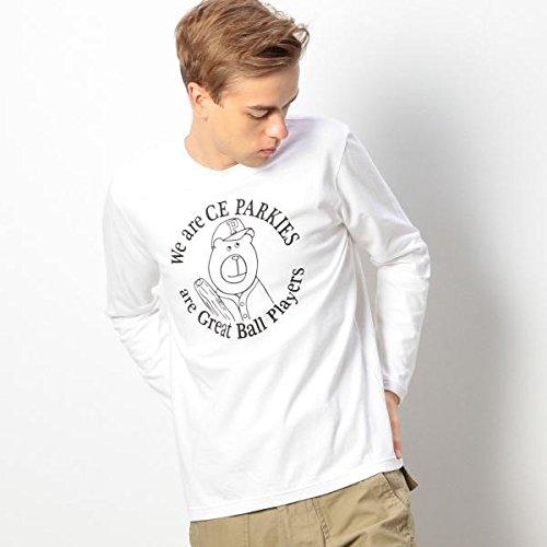 コーエン(メンズ)(coen) PARKIES(パーキーズ)長袖Tシャツ【ホワイト/XL(90)】