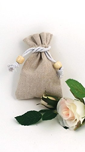 pack-of-10-x-small-high-quality-natural-linen-drawstring-bags-finished-with-wooden-bead-12cm-x-8cm-a