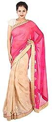 Kasturi Sarees Basement Women's Georgette Saree (Multi-Coloured)