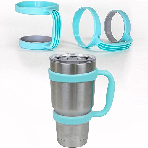 Blue Handle - YETI Cup Holder Travel Rambler Coffee Tumbler Drinkware for 30 Oz (My Jo Coffee Maker compare prices)