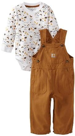 Amazon Carhartt Baby boys Infant Washed Canvas Bib