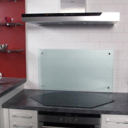 K chenr ckwand spritzschutz satinato mattglas hxbxt for Glasplatte als spritzschutz