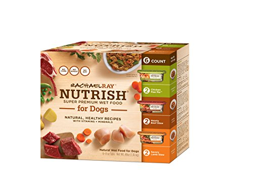 Rachael Ray Nutrish Natural Wet Dog Food, Variety Pack, Grain Free, 8 oz tub, Pack of 6 (Nutrish Dog Food compare prices)
