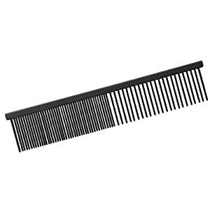 Master Grooming Tools Xylan Coarse Pet Grooming Comb, 7-1/2-Inch, Medium
