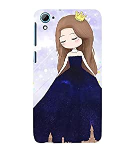 99Sublimation Princess Girl 3D Hard Polycarbonate Back Case Cover for HTC Desire 826 Dual Sim