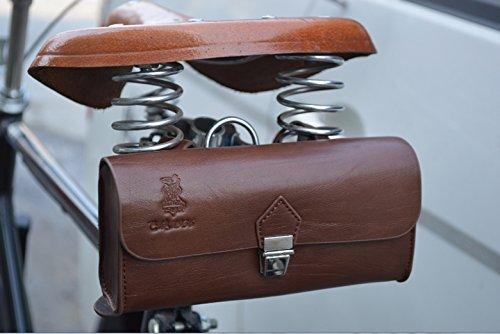 Handmade PU England Vintage Bike Saddle Bag Size 189cm4.5cm 1