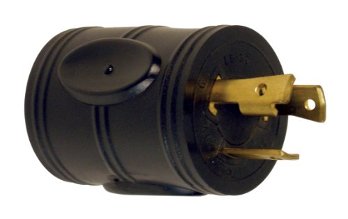 Prime RVADT30 RV Adapter, 30 Amp Twist-to-Lock Plug and 30 Amp Connector, Black