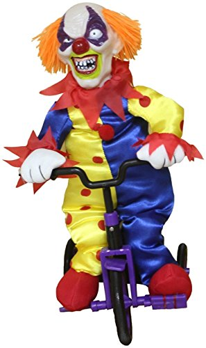 [Halloween Animated Clown On Tricycle Haunted House Decoration Party Spooky Prop] (Medusa Childs Halloween Costume)