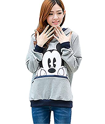 Vakind® Women Girl Cute Mickey Minnie Mouse Ear Sweater Shirt Jumper Hoodie Coat