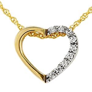 Bella Donna Damen-Halskette mit Anhänger 9 Zirkonia 585 Gelbgold 42 cm 33354205ZI