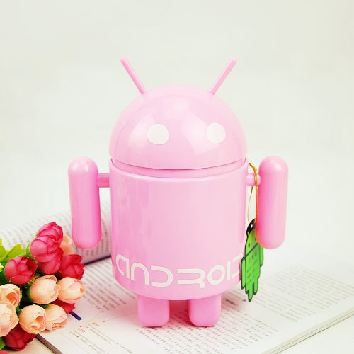 The Android Robot 16 Leds Folding Rechargeable Lamps Fashion Table Lamp (Pink)