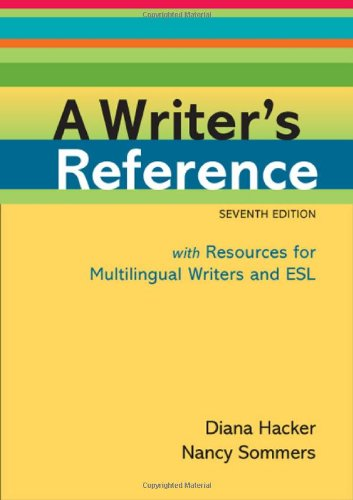 A Writer's Reference with Resources for Multilingual...