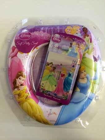 Disney Princess Soft Potty Seat Girls Padded, With Matching Light Switch Wall Plate. Potty Training Comfort And Warmth. Easy To Clean. Cinderella, Belle, Tiana, Aurora. Asiento Suave De Bacinilla front-100880